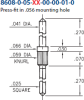 Double Tail Header Pin -- 8608-0-05-15-00-00-01-0