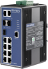 7+3G Combo Port Gigabit Managed Redundant Industrial Ethernet Switch with 2 x DI/O -- EKI-7657CI