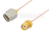 SMA Male to SMA Female Cable 6 Inch Length Using PE-034SR Coax, RoHS -- PE34226LF-6 -Image