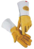 Glove,Welding,14 In L,Gold and Gray,M,Pr -- 23K007