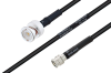 MIL-DTL-17 BNC Male to SMA Male Cable 100 cm Length Using M17/28-RG58 Coax -- PE3M0116-100CM -Image