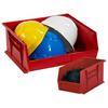 "18"" x 8 1/4"" x 9"" Red - Plastic Stack & Hang Bins -- BINP1889R -- View Larger Image"