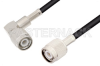 TNC Male to TNC Male Right Angle Cable 48 Inch Length Using LMR-195 Coax -- PE3C0058-48 -Image