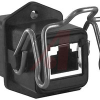 connector,plastic rectangular,square flange panel receptacle,rj45 ethernet -- 70027028