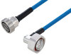 Plenum 7/16 DIN Male Right Angle to 7/16 DIN Female Low PIM Cable 150 cm Length Using SPP-250-LLPL Coax Using Times Microwave Parts -- PE3C6183-150CM -Image