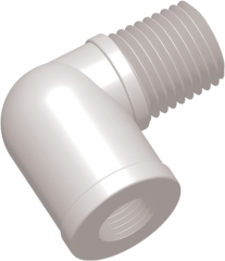 Plastic Threaded Elbow Tube Fitting image