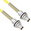 Halogen Free Cable Assembly TRB Insulated Bulk Head 3-Lug Cable Jack to Jack with Bend Relief .245