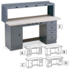 EDSAL Outlet-Ready Pedestal Workstations -- 5314000