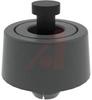 Bumper; Santoprene (Foot), Polypropylene (Pin); 23.1 mm; 5.1 mm; 24.9 mm; Black -- 70208710