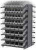 Akro-Mils 1800 lb Clear Gray Powder Coated Steel 16 ga Double Sided Fixed Rack - 36 3/4 in Overall Length - 104 Bins - Bins Included - APRD18AST00SC -- APRD18AST00SC - Image