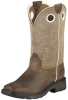 Kid's Workhog Square Toe Tall Boot - Distressed Brown/Beige -- ARIAT-10008644