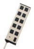 UL210BC - Compact 10-Outlet (5 x 2) Power Strip with 6 Ft Cord -- GO-26870-02