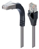 Shielded Category 6 Right Angle Patch Cable, Stackable, Gray, 7.0 ft -- TRD695SRA15GRY-7 -- View Larger Image