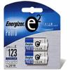 Energizer EL-123/2 CR123 Advanced Photo Lithium Battery Reta -- EL123APB2