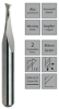15° Double Flute End Mill -- HSC+ - Image