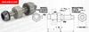 Guide Wheel Journal Assemblies (metric) -- A 7X17MJA0 -Image