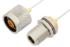 N Male to N Female Bulkhead Cable 60 Inch Length Using PE-SR047FL Coax -- PE34156-60 -Image