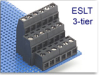 3-Tier Fixed Terminal Block Modules -- ESLT Multi-Tier Low-Profile Modular Assembly -- View Larger Image