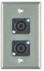 Wall Plate, 2 NL4MP Connectors, 1 Gang -- 34128 - Image