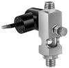 "(Formerly B1835-12X01), Adjustable Sight Feed Valve With Solenoid Shutoff, 1/4"" Female NPT Inlet, 1/4"" OD Tube Outlet, 24VDC -- B1835-45B1S024DW -Image"