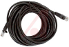 25ft Black Cat 5E Booted Patch Cable -- 70121735