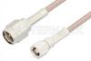 SMA Male to SMC Plug Cable 6 Inch Length Using RG316 Coax, RoHS -- PE3809LF-6 -Image
