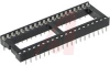 DIP Socket, 40 Pos., Vertical PCB Mount, Ladder Frame Style, 2.54mm (.100 in) CL -- 70042915 - Image