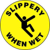 Floor Sign,17In,Slippery When Wet -- 8GLE3