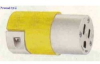 Straight Blade Connector Yellow 15A 125V 2P -- 78358516160-1