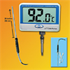 Digi-Sense Calibrated Remote Probe Digital Thermometer, extra long, waterproof -- GO-37803-87