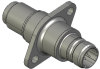 Honeywell Harsh Application Aerospace Proximity Sensor, HAPS Series, Inline cylindrical flanged form factor, 2,50 mm/3,50 range, 3-wire open collector output normally closed, EN2997Y10803MN terminatio -- 1PCFD3BCNN-000 -Image