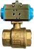 Pneumatic Actuated Ball Valve -- 8P0080/8P0082/8P0135/8P0136 2-Way Brass - Image