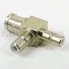 SMB T Adapter Plug-Jack-Jack, Nickel Plated Brass Body, High Temp, 1.2 VSWR -- SM2011 - Image