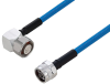 Plenum 4.1/9.5 Mini DIN Male Right Angle to N Male Low PIM Cable 36 Inch Length Using SPP-250-LLPL Coax Using Times Microwave Parts -- PE3C6218-36 -- View Larger Image