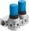 Pressure regulating valve manifold -- LRB-1/4-DB-7-O-K2-MINI -Image