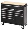 Rolling Cabinet,41 x 18 x37-1/2 In,Black -- 13R492