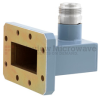 WR-137 to Type N Female Waveguide to Coax Adapter CMR-137 with 5.85 GHz to 8.2 GHz C Band in Aluminum, Paint -- FMWCA1049 - Image