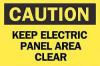 Caution Sign,10 x 14In,BK/YEL,ENG,Text -- 4FT61