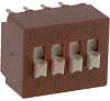 Switch, DIP, 4 PositionS, VERTICAL MOUNT -- 70128460 - Image