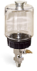 "(Formerly B1682-1), Single Feed Manual Lubricator, 1 pt Polycarbonate Reservoir, 1/4"" Male NPT -- B1681-0162B11W -- View Larger Image"