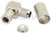 75 Ohm Mini SMB Plug Right Angle Connector Crimp/Solder Attachment for RG59, RG62, RG71 -- PE4996 -Image