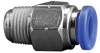 Fisnar 560746A Straight Push Connector 0.25 in OD x 0.25 in NPT Male -- 560746A -Image