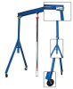 ADJUSTABLE HEIGHT STEEL GANTRY CRANES -- HAHS-4-10-12 -- View Larger Image