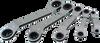 5 Pieces 6 pt SAE 25° Offset Ratcheting Box Wrench Set -- 5205LR - Image