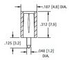 Vertical PCB Test Jacks -- 6036 -Image