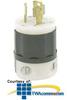 Leviton 15 Amp, 250 Volt 3-Phase, Locking Plug -- 4880-C - Image