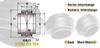 Standard Duty Extended Inner Race Sealed Spherical Plain Metric Bearing -- View Larger Image