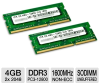 VisionTek 900454 Laptop Memory Kit - 4GB (2x 2GB), PC3-12800 -- 900454