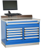 Heavy-Duty Cabinet with Accessories, Double Bank, 11 drawers (48