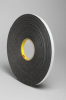 3M 4466 Black Foam Mounting Tape - 1/2 in Width x 36 yd Length - 1/16 in Thick - 30413 -- 021200-30413 -- View Larger Image
